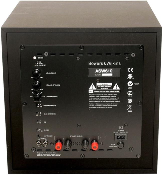 bowers e wilkins b w asw610 subwoofer hi fi casse e diffusori subwoofer per sistemi home theatre. Black Bedroom Furniture Sets. Home Design Ideas