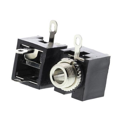 Schema Elettrico Jack 3 5 : Connettore jack femmina 3.5mm mono da pannello connettori jack trs