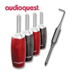 AUDIOQUEST 1000 Banana Argento - Set 4 Connettori a Banana Silver